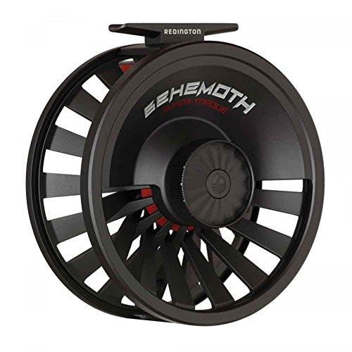 Redington Behemoth Series Die-Cast Adjustable 7/8 Fly Fishing Reel Spool with Nylon Reel Case, Black