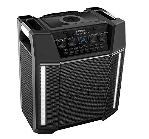 ION Pathfinder 3 Bluetooth Portable Speaker with Wireless Phone Qi Charging