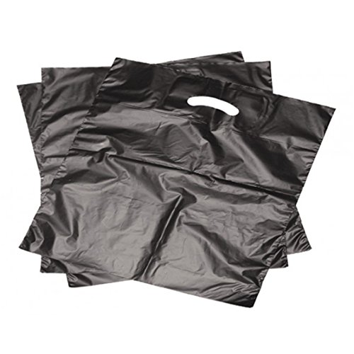 Glassvibrations Grifflochflachbeutel 1.000 STK. 25x35cm schwarz 16mµ