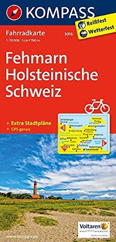 KOMPASS Fahrradkarte Fehmarn - Holsteinische Schweiz: Fahrradkarte. GPS-genau. 1:70000 (KOMPASS-Fahrradkarten Deutschland, Band 3016)