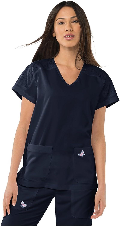 Koi Mariposa Women's Cassie VNeck Raglan Sleeve Top