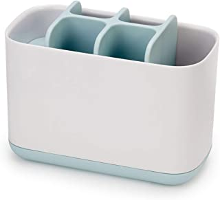 Joseph Joseph - Easy-Store - Porte Brosse à Dents et Tubes de Dentifrice, Plastique et Hygiénique Grand Modèle- Blanc/Bleu...