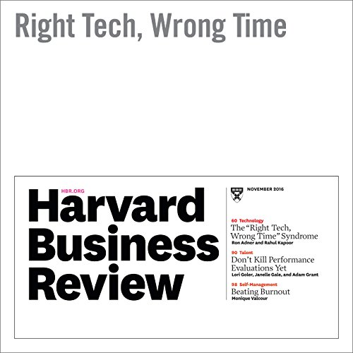 Right Tech, Wrong Time audiobook cover art