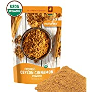 Naturise Organic Ceylon Cinnamon Powder, Ceylon True Cinnamon Ground (1 Lb), Fresh From Last Harvest