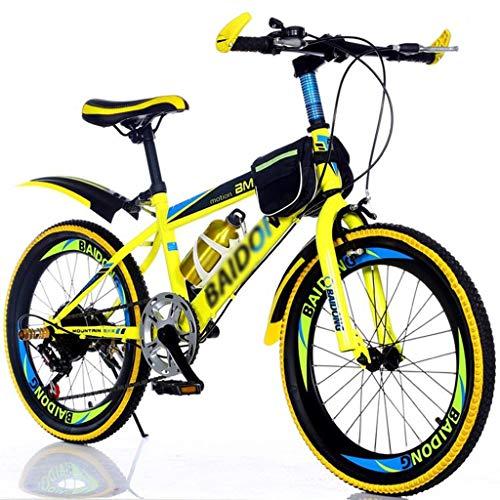 Bicicletas Triciclos Montaña For Niños De 20 Pulgadas For Adultos Carreras Todoterreno Masculinas Y Femeninas Senderismo For Niños (Color : Yellow, Size : 20inch)