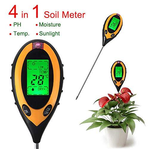 Great Price! EXDJ 4 in 1 LCD Digital PH Meter Tester Soil Moisture Temperature Sunlight Tester Ferti...