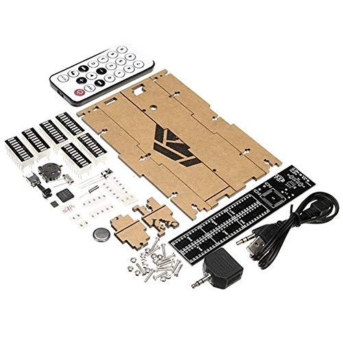 Jill Ernest Zubehör Elektronische Uhr Music Spectrum Kit Mit Schwarzem Acryl Shell Dual Channel 30 Segmente Volumen UV Tisch Fernbedienung DIY