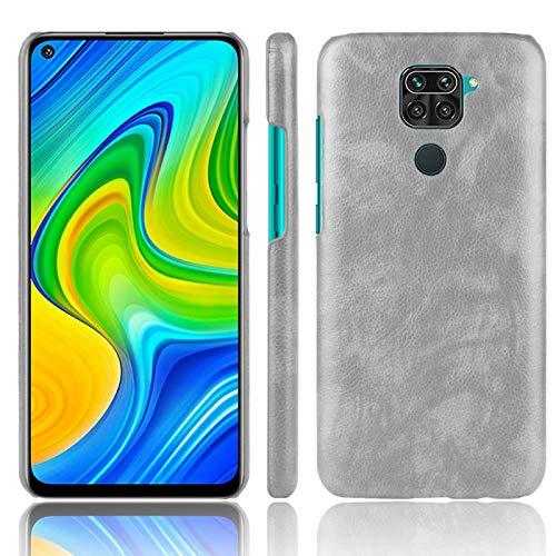 Caja del teléfono Celular WHHHRH FOR XIAOMI REDMI Note 9 / Redmi 10x 4g A Prueba de Golpes Litchi Texture PC + Caso PU (Color : Gray)