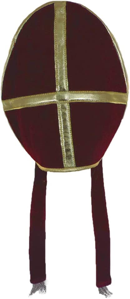 Bishop Pope Louisville-Jefferson County Mall Mitre Clergy Red Costume Hat Prop Quality inspection