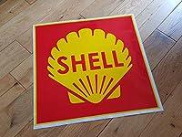 Shell Red Square Sticker シェル 石油 ステッカー シール デカール 390mm × 380mm [並行輸入品]