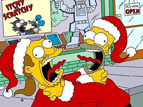 YGVXX Collector S Edition 1000 Rompecabezas para Adultos Los Simpson disfrazados de Pap Noel Posters incluidos-Rompecabezas Imposible-Color-Educativo