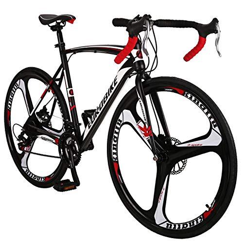 Eurobike OBK XC550 Road Bike 700C Wheels 21 Speed Disc Brake Mens or Womens Bicycle Cycling (3 Spoke Wheel, 54cm)