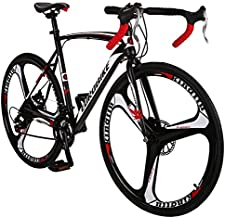 OBK XC550 Road Bike 700C Wheels 21 Speed Disc Brake Mens or Womens Bicycle Cycling (3 Spoke Wheel, 54cm)