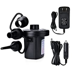 Powerful Electric Air Pump -- The AGPtek air pumps are so powerful that it can not only inflate items but also deflate products by sucking air out! Car power adapter and home power adapter are included, making it possible for indoor and outdoor use. ...