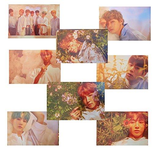 YEeyuTrwd Kpop Bangtan Boys BTS LOVE YOURSELF 'Her' 'Tear' 'Answer' Poster 8 Blätter(H02: BTS 'Her'(version O))