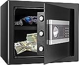 Tresor Safe mit Schlüssel Elektronisches Passwort Safe Cabinet TOPQSC Feuerfest und wasserdicht...