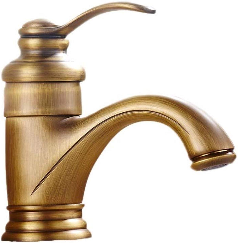 Yuyu19-SLT Bathroom Taps Mixer Mono Basin Mixer Tap Sink Faucet European retro copper