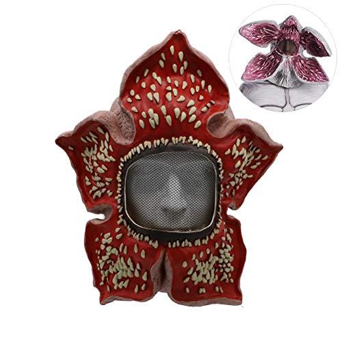 Kylewo Demogorgon Maskers, Actie Figuren Cosplay Demmogorgons Latex Masker Halloween Dress Up Zonnebloem Hoofddeksels