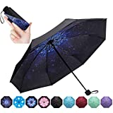 NOOFORMER Mini Travel Umbrella -95% Anti-UV Lightweight Compact Small Folding Sun Umbrellas -8Ribs