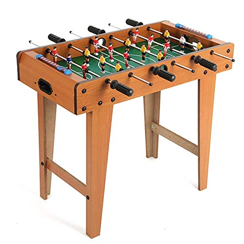 Standing Quality Wooden Table Top Football Game With Legs Large Free Foosball Soccer Sport Board - Includes 9 Players Per Side And 2 Balls Retro Toy Gadget Gift