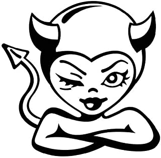 KCD Sexy Devil Winking Vinyl Decal Sticker|Cars Trucks Vans Walls Laptops Cups|Black|5.5 in|KCD853