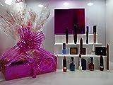 Rimmel London - Juego de 10 cajas de belleza de lujo + anillos y pendientes de cristal + base de riel gratis ~ Cesta de regalo para ella .86.