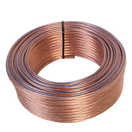 Made in Germany transparent insulated copper wire strands: 2 x 132 x 0.2 mm Misterhifi 10 m Speaker cable 2 x 4,0 mm/² 99.9 /% OFC copper cable speaker cable // audio cable for speakers and home cinema use