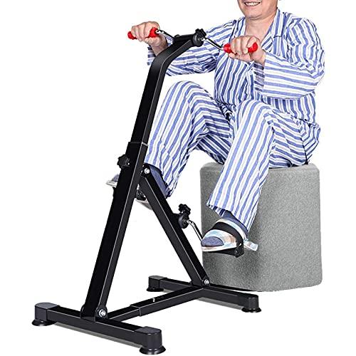 Máquina de entrenamiento de rehabilitación para miembros superiores e inferiores, bicicleta de ejercicios de pedal plegable para el hogar de ancianos para todo el cuerpo, equipo de fitness ajustable p