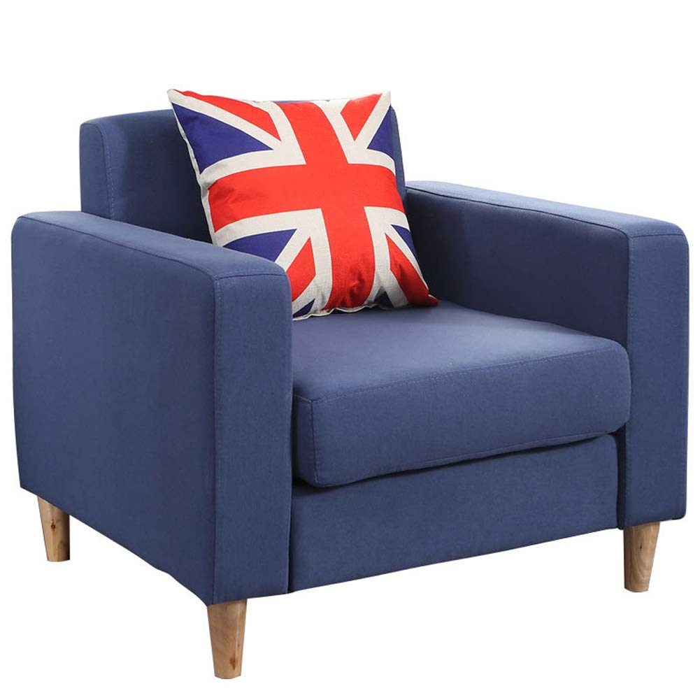 北欧シングルソファー1人用ファブリックソファアパートリビングルームのベッドルームの高級ソファ