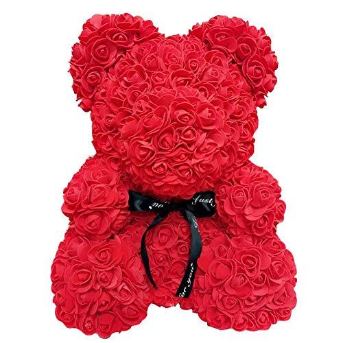 Yaowo Día De La Madre Aniversario Regalos Graduación 25Cm Rose Bear Forever Box Transparente Multicolor