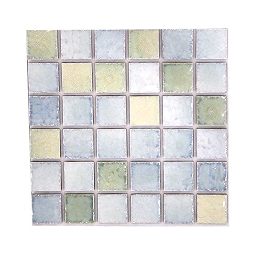 シール式モザイクタイルシート デコレ[ピュレ 1枚販売] ルーベ 1枚サイズ:15cm×15cm Z3K