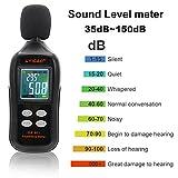 Medidor de nivel de sonido digital, UYIGAO Mini prueba de medición de sonido...