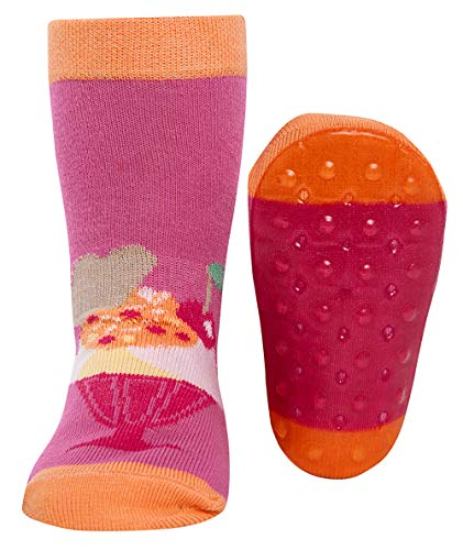 Ewers Baby- und Kindersocken, Stoppersocken, Antirutschsohle für Mädchen Eisbecher, Made in Europe, Anti-Rutsch, ABS