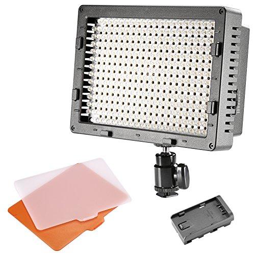 Neewer® CN-304 304PCS LED Dimmbare Ultrahohe Power Panel Digitalkamera / Camcorder Videolicht Videolampen Videobeleuchtung für Canon, Nikon, Pentax, Panasonic, Sony, Samsung und Olympus Digital SLR Kameras