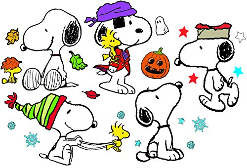 Eureka Classroom Supplies Back to School Snoopy Holiday Poses Bulletin Board Sets, 18''x0.1''x28'', 41 pc. (847602AWZM)