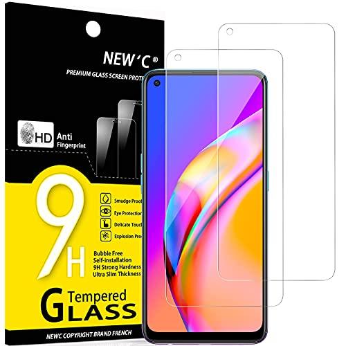 NEW'C 2 Stück, Schutzfolie Panzerglas für Oppo A74 4G, Oppo A94 5G, Frei von Kratzern, 9H Festigkeit, HD Bildschirmschutzfolie, 0.33mm Ultra-klar, Ultrawiderstandsfähig