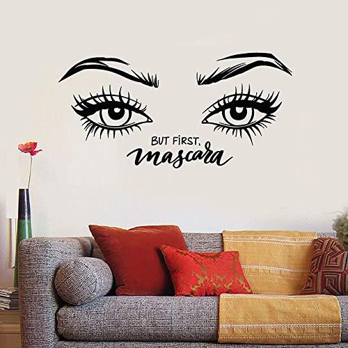 Rímel Pegatinas de pared Hermosas pestañas Cosméticos de cejas Pegatinas de vinilo para ventanas Sala de maquillaje Interiores de salón de belleza