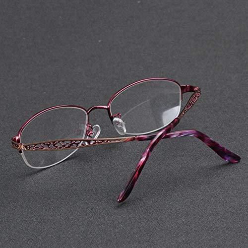 Bril Vrouwelijke progressieve zoom kleur lezen, 100 °-300 ° anti-UV zonnebril lichtgevoelige kleur outdoor zonnebril, verre en in de buurt van dual-use multi-focus lezen voor de oudere lichtspiegel