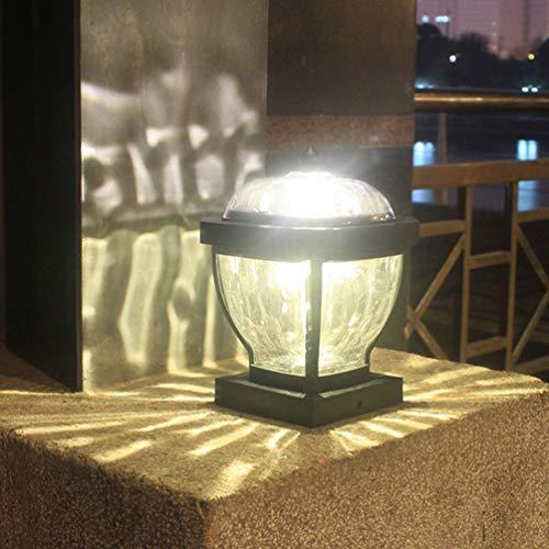 Uonlytech Solarleuchte für den Außenbereich, 2 LEDs, wasserdicht, für Zaun, Pfosten, Deck, Terrasse, Zaun, Säule, Weg (warmes Licht)