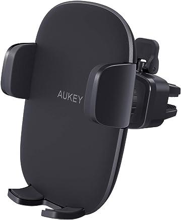 AUKEY Support Smartphone Voiture Grille Aération Universel avec Rotation 360°Porte Téléphone Voiture pour iPhone XR/XS/X/ 8/7/ 6s/ 6, Samsung Galaxy S9/ S8 et Les Autres Smartphone et GPS