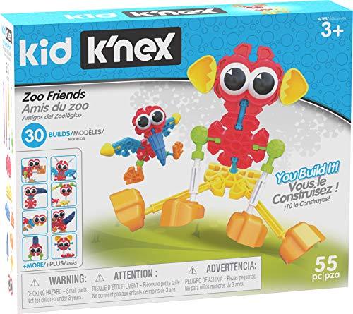 K\'NEX 34492 - Bau- und Konstruktionsspielzeug Set Zoo Friends, Baukasten Tierpark Freunde mit 55 Teilen, Konstruktionsset für 30 verschiedene Modelle, Kid K-Nex Bauset für Kinder von 3 bis 5 Jahre