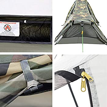 Geertop Tente de Randonnée Ultra Légère 1 Personne 3-4 Saison pour Camping Trekking d?Extérieur