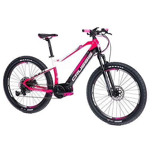 Crussis Bicicleta eléctrica e-Guera 8.6-M de 27,5 pulgadas, cuadro de 19 pulgadas, 36 V, 20 Ah, 720 Wh, batería de ion de litio para mujer modelo 2021