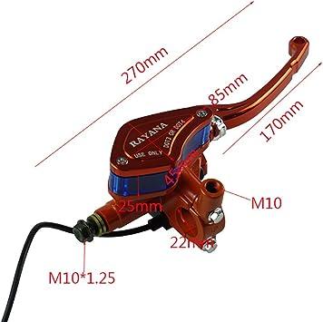 Color : Azul CBFYKU Un par de Motocicletas Palanca Universal Manija Ajustable Embrague hidr/áulico Bomba de Freno Cilindro Maestro