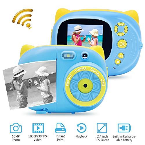 Cámara Digital Camara de Fotos Instantaneas con Modo Macro y WiFi Full HD 1080P 30FPS Camara Instantanea Compactas