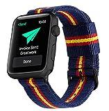 Estuyoya - Pulsera de Nailon Compatible con Apple Watch Colores Bandera de España, Ajustable Reemplazo Estilo Deportiva Casual Elegante para 38mm 40mm Series 6/5 / 4/3 / 2/1 / SE - OTAN
