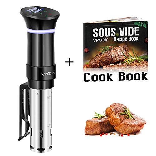 Sous Vide Cooker VPCOK Sous Vide Precision Cooker Immersion Circulator Sous Vide Machine, Accurate Temperature and Time Control Sous Vide Cookbook Included