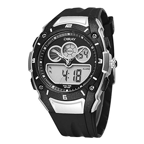 XHH Senderismo Impermeable al Aire Libre Impermeable Reloj Deportivo Relojes Digitales LED...