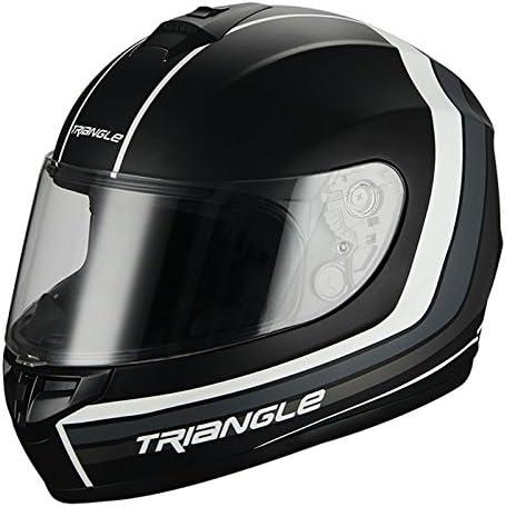 TRIANGLE Full Max 79% OFF Face Matte Street Bike DOT Oakland Mall Motorcycle Helmet
