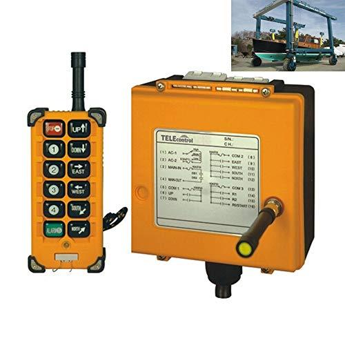 12//24V Transmitter+Receiver Hoist Crane Radio Wireless Remote Control System USA